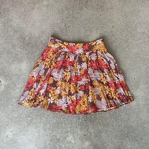 Retro Style Floral Mini Skirt